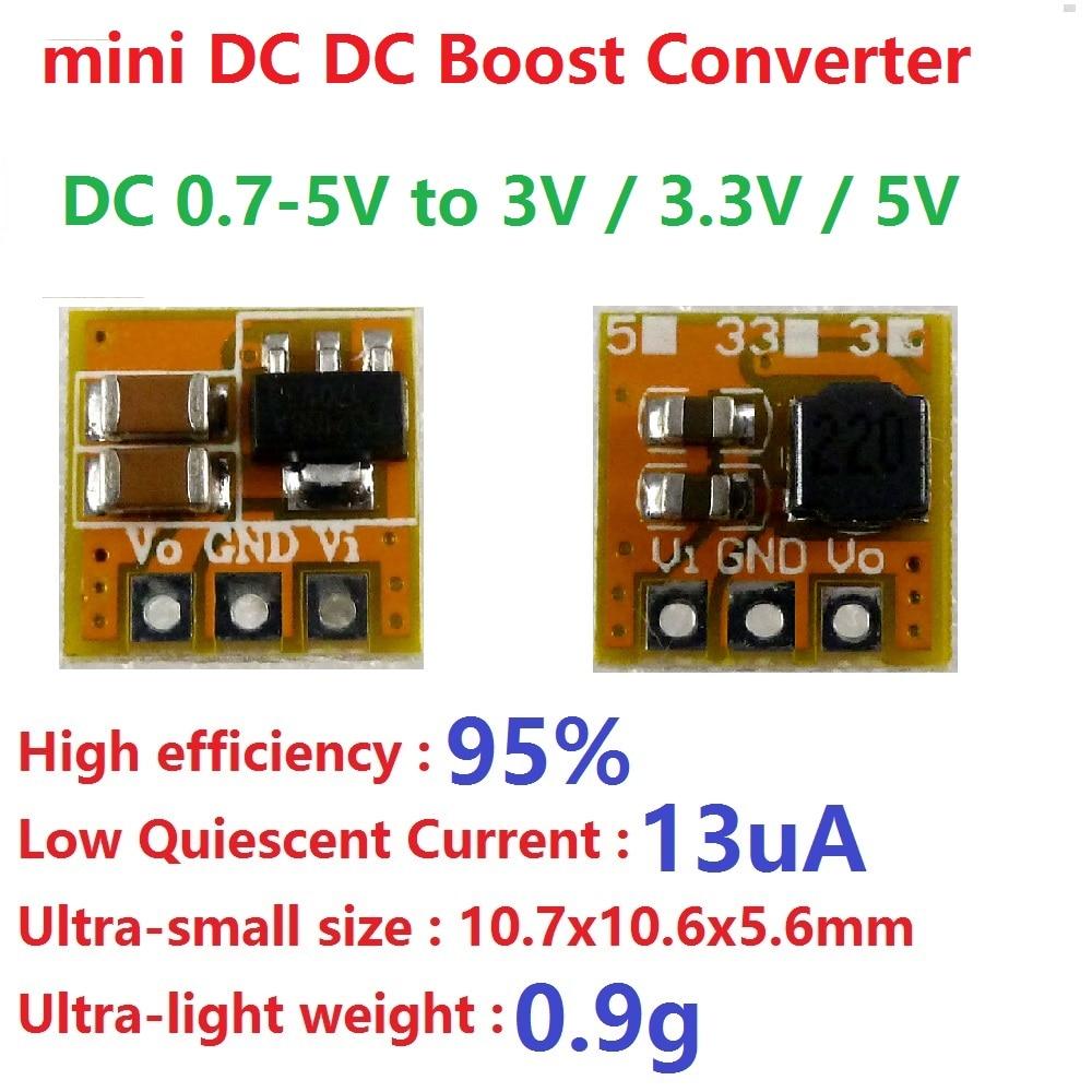 0.7 5V to 3V 3.3V 5V DC DC Boost Converter voltage Step up