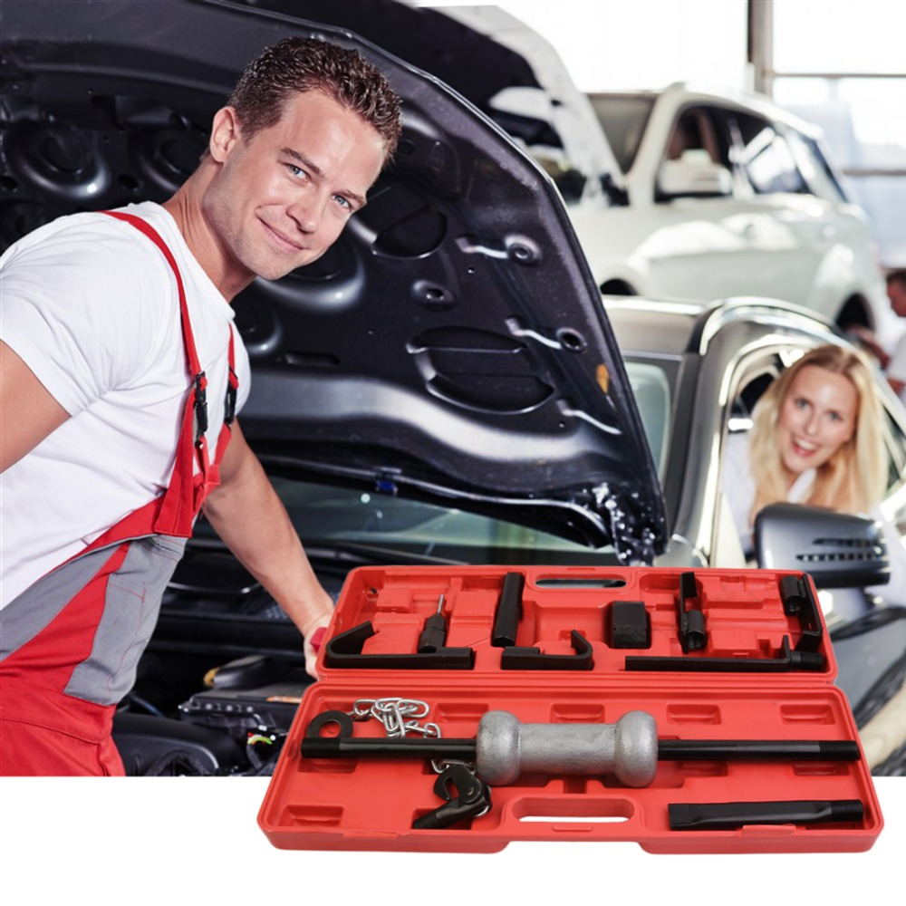 Professional Car Vehicle Automotive Metal Repair Tool Sets Kit Combination Tool Portable Car Emergency Metal Tool Box ra 8813a 2 in 1 car safety hammer sets of mobile phone charging plug combination set of vehicle emergency rescue toolbox