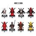 Hot Marvel superhéroes x-men Deadpool fuerzas bloque de construcción de armas compatible legoeinglys. ladrillos juguetes para regalos de los niños