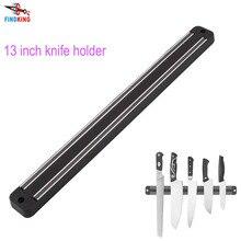 FINDKING Высокого Качества 13 дюймов Магнитный Держатель Ножа Настенное Крепление Черный ABS Calbes Оптического Блока Магнит Держатель Ножа Для металлический Нож
