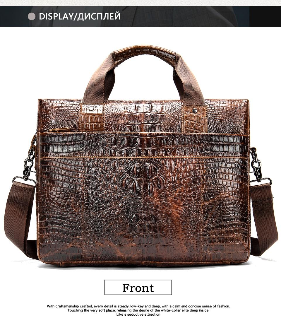 HTB1.T6lXgaH3KVjSZFpq6zhKpXaQ MVA Male briefcase/Bag men's genuine leather bag for men leather laptop bags office bags for men Crocodile Pattern handbag 5555