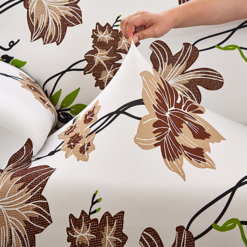ROMORUS Floral Sofa Covers Tight All-inclusive Universal Stretch - Home Textile - Photo 5
