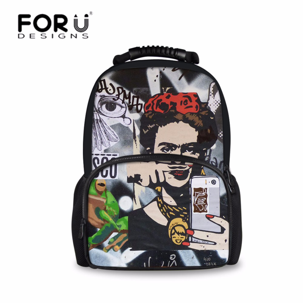 FORUDESIGNS Children Backpack Anime Funny Printing Backpacks for Teenager Girls Boys Travel Laptop Bags School Bagpack Mochila anime noragami aragoto yato backpack for teenage girls boys cartoon yukine children school bags casul book bag travel backpacks