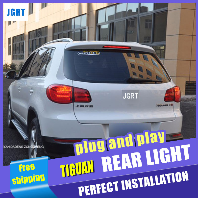 Car Styling for 2010-2012 Tiguan LED Taillight assembly Volks Wagen Tiguan Tail Light Rear Lamp LED DRL+Brake with hid kit 2pcs. jgrt car styling for vw tiguan taillights 2010 2012 tiguan led tail lamp rear lamp led fog light for 1pair 4pcs