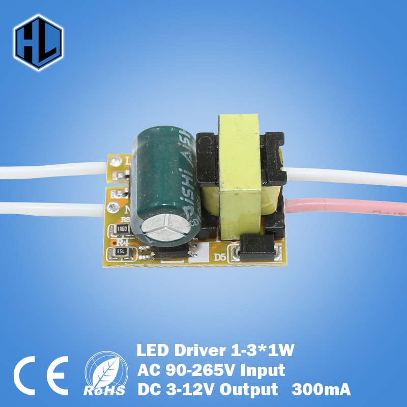 1-3W LED Driver Power Supply Adapter Input AC90-265V Output DC3-12V Constant Current 240-300mA Transformer For Led Lamp DIY