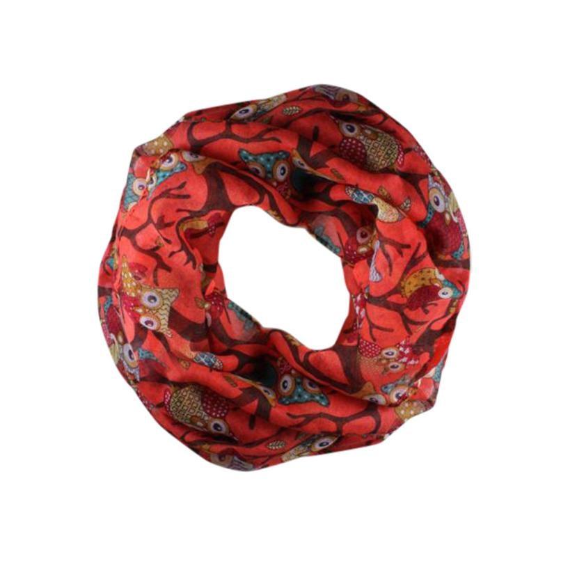 NEW SALE Scarf Women Lady Owl Pattern Print Scarf Voile Warm Wrap Shawl Scarves
