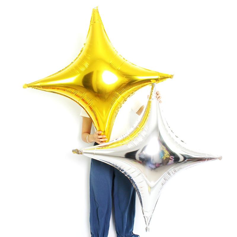 50 개/몫 점보 크기 40 inch 4 지적 골드 스타 알루미늄 호 일 풍선 생일 파티 웨딩 헬륨 스타 풍선 용품-에서풍선 & 액세서리부터 홈 & 가든 의  그룹 1