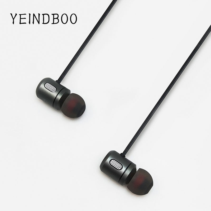 YEINDBOO Bass Bluetooth Earphone Wireless Earphones With Mic Magnetic in ear Bluetooth Earbuds Headset For Mobile Phone Sports magnetic switch earphones sports running wireless earbuds bass bluetooth headsets in ear with mic for running fitness exercise