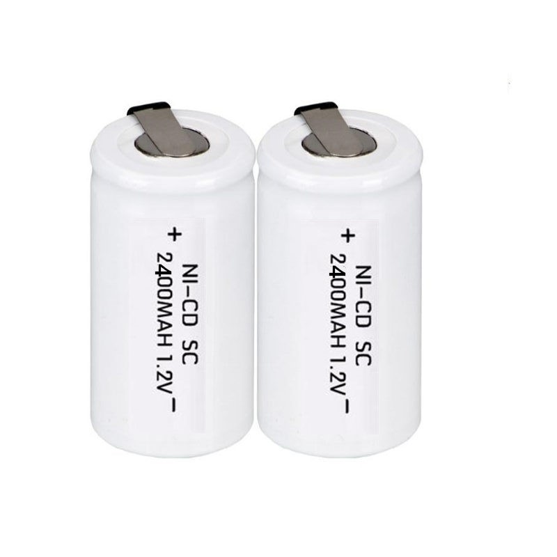 12pcs lot SC battery rechargeable NI CD 1 2v 2400mah batteria battery Free Shipping in Replacement Batteries from Consumer Electronics