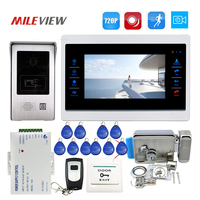 Free Ship 1 0MP 720P AHD 7 Touch Screen Video Door Phone Intercom Record Monitor Kit