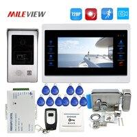 Free Ship 1 0MP 720P AHD 7 Touch Screen Video Door Phone Intercom Record Monitor Kit