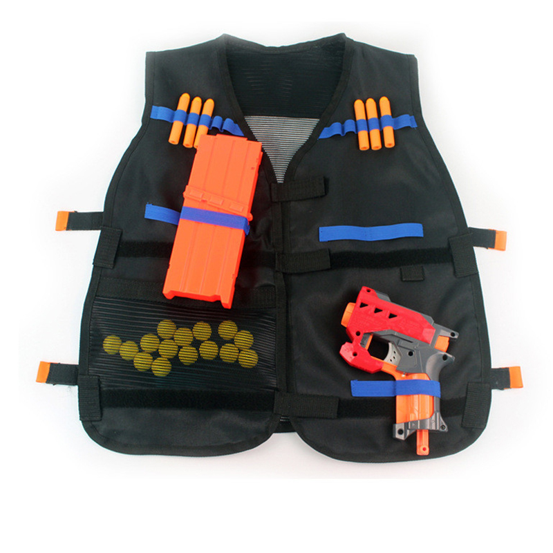 54x47cm Children Kids Black Tactical Vest Jacket Waistcoat Ammo Holder Lite Pistol Bullets Toy Clip Darts For Nerf Dropshipping Hiking Vests Hiking Clothings