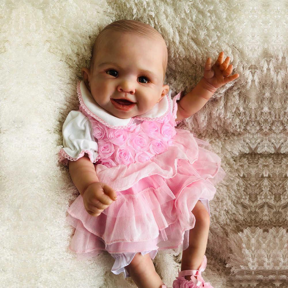 """20 """"50 см полный тело Возрожденный силикон куклы высокого класса мягкий силиконовый винил малыш bathe девочка подарок на день рождения игрушка"""