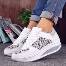 Женские кроссовки на платформе VTOTA, белые Дизайнерские кроссовки на танкетке, повседневная обувь для женщин