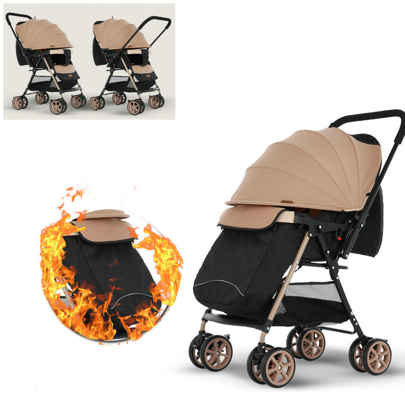 Two Way Push Baby Stroller with Foot Cover, 6.5KG lightweight baby carriage, can sit can lie stroller, portable baby pram