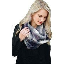 2019 Winter Plaid Tartan Winter Infinity Scarf Tassel Soft Circle Loop Scarves ladies pashmina blanket shawl wraps foulard femme