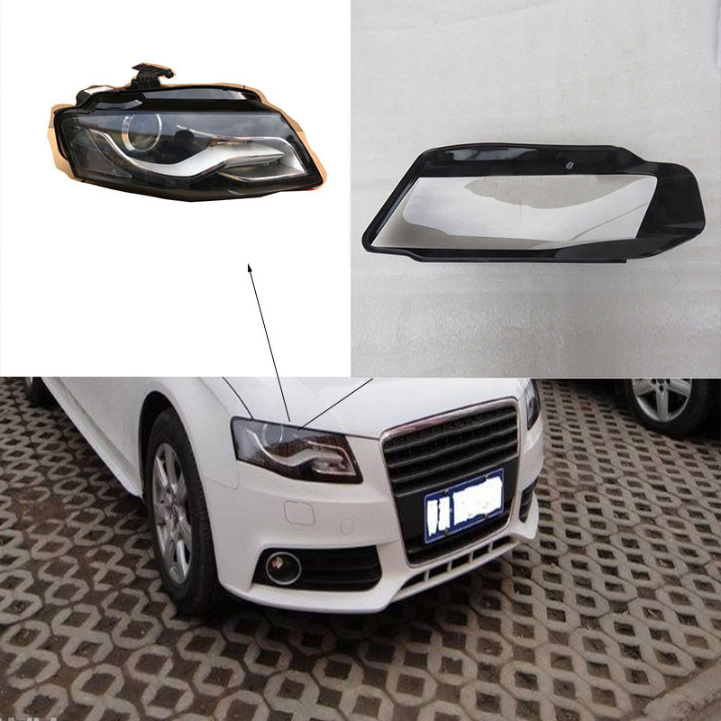 for audi A4 B8 headlight transparent cover lighthouse lenses Front lighting lampshade lighting plastic cover 2008 2012