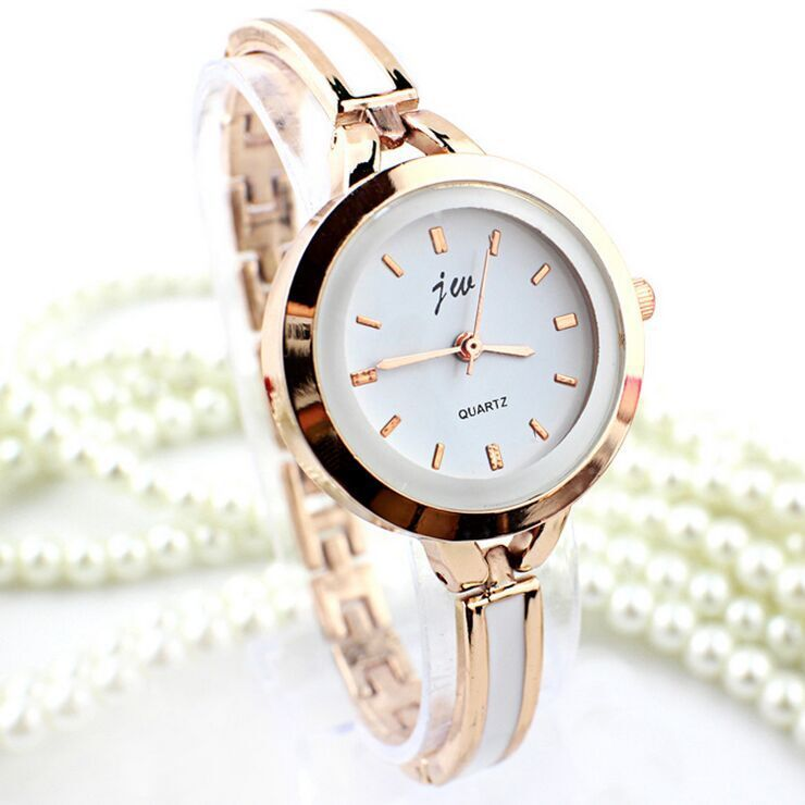 Promotion!!! 2015 New Women Ladies Rose Gold White Thin