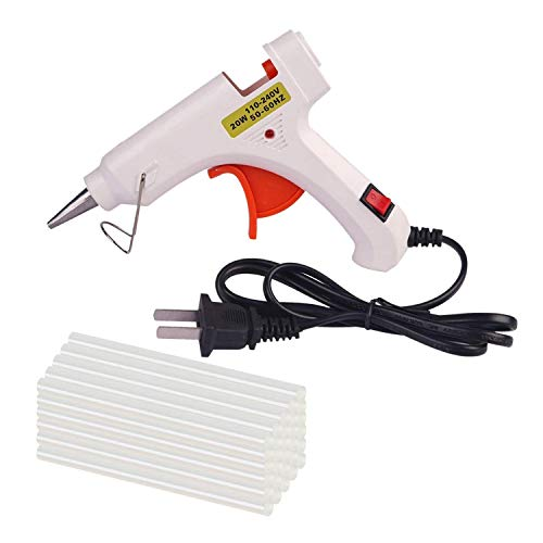 PDR Tools 20W Hot Melt Glue Gun With 30pcs 7mm*200mm Glue Stick Industrial DIY Thermo Mini Adhesive Glue Gun Repair Heat Tools