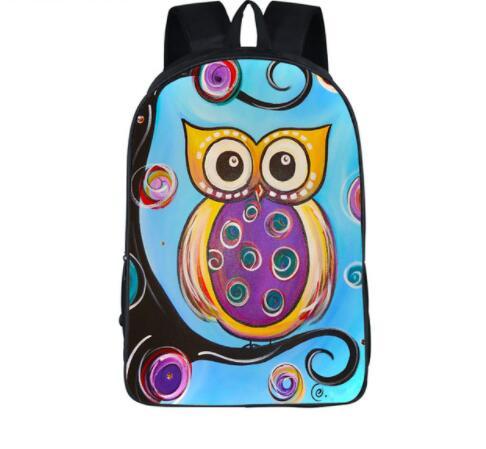 3D Cartoon Owl Backpack For teens Kids Mystery Witch Backpack Boys Girls School Bags Backpacks Children shoulder Bag