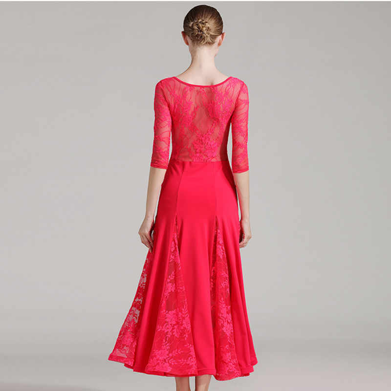 Стандартный бальный зал платье бахрома для вальса, бальных танцев платья для женщин Фламенго испанское платье Одежда для танцев Женская праздничная одежда кружева