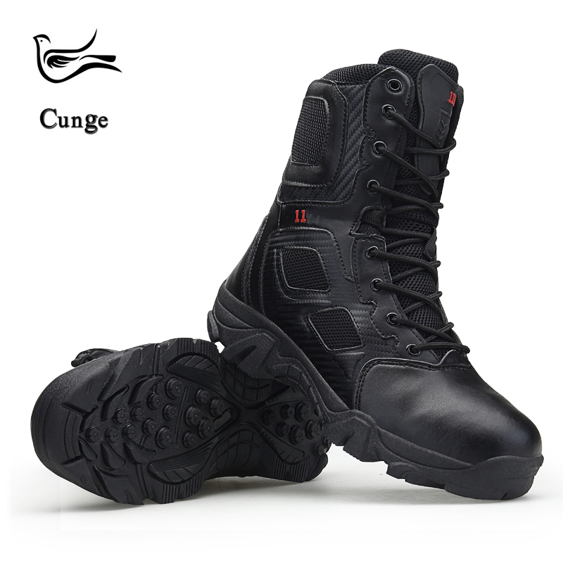 Fashion Men Military Boots High Quality Tactical Desert Boots Combat Ankle Boots Boats Army Work Shoes Leather Antiskid Boots