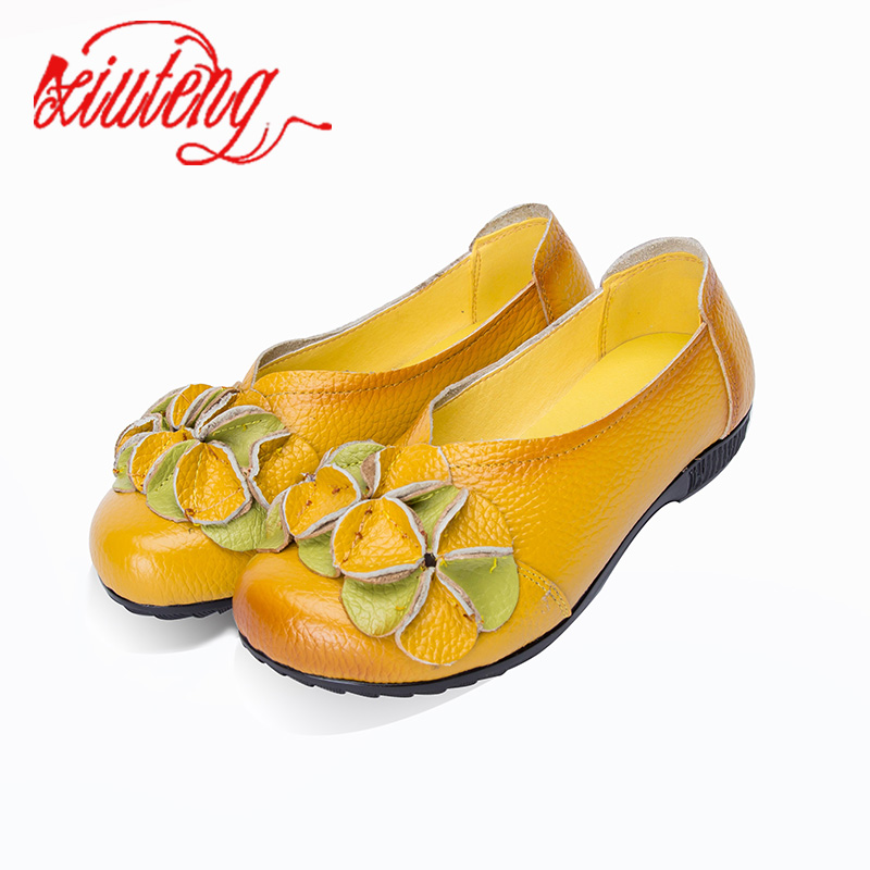 Xiuteng 2018 New Summer Shoes Woman Genuine Leather Flat Sandals Female Round Toe Shoes Soft Comfortable Women shoes xiuteng summer flat with shoes woman genuine leather soft outsole open toe sandals flat women shoes 2018 fashion women sandals