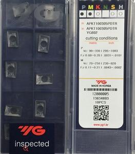 Image 1 - APKT160408 PDTR YG602 50 قطعة 100% كوريا YG 1 كربيد إدراج المعالجة: الفولاذ المقاوم للصدأ ، الصلب والحديد الزهر الخ.