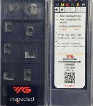 APKT160408 PDTR YG602 50 stücke 100% Korea YG 1 Hartmetall einfügen Verarbeitung: edelstahl, stahl, gusseisen Etc.