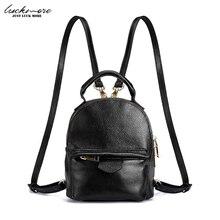 2017 натуральная кожа женские рюкзаки черный Малый дамы рюкзак повседневные женские сумки на плечо для девочек-подростков рюкзак Mochila