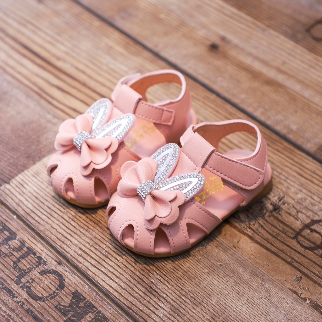 Toddler Infant Baby Girls Sweet Elegant Bowknot Crystal Princess Shoes Sandals Shoes Kids Ropa De Nina Sandals For Girls