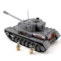 Military War Tank 3D Model PZKPFW IV Building Blocks Sets Compatible Legoings Army ww2 Bricks Educational Toys For Children