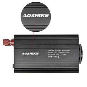Image 5 - Aoshike Dual USB 4.2A INVERTER 12V 220V 300W 500W EU Xe Điện Inverter 12V 220V Tự Động Biến Đổi Điện Áp Xe Adapter
