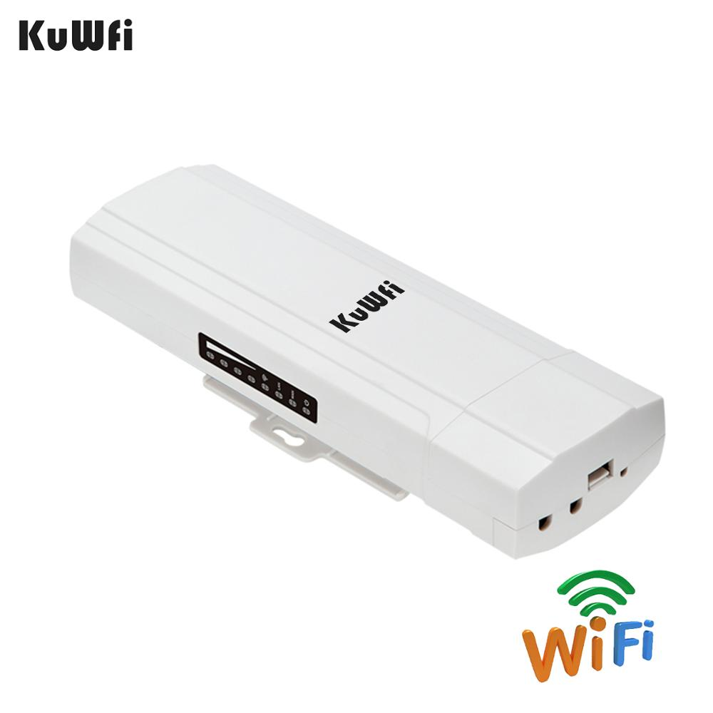 Image 2 - KuWFi Outdoor CPE Router Wifi Repetidor Wifi Extender 2 Pics Transmission Distance Up To 3KM Speed Up To 300Mbps Wireless CPE-in Wireless Routers from Computer & Office
