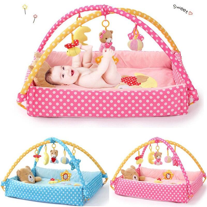 Nouvelle lune ours jeu couverture tapis de jeu poudre bleu bébé ramper couverture ramper pad bébé jouets