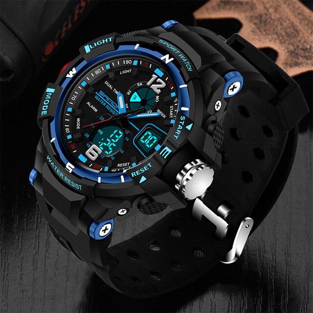 08909ca8eea9 SANDA deporte reloj hombres 2019 reloj hombre Digital LED relojes de pulsera  de cuarzo de los