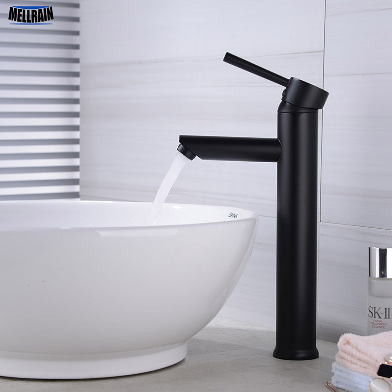 Quality Brass Matte Black Basin Faucet Bathroom Sink Water Mixer Hot And Cold Water Mixer Tapware