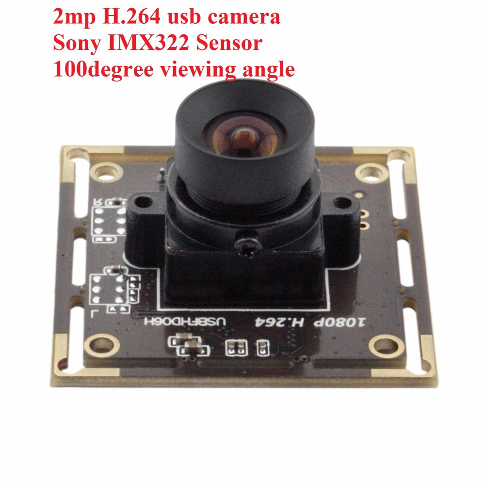 No distortion lens H.264 1080p industrial professional USB 2.0 Camera Module. Webcam For Raspberry pi With Sony imx322 Sensor