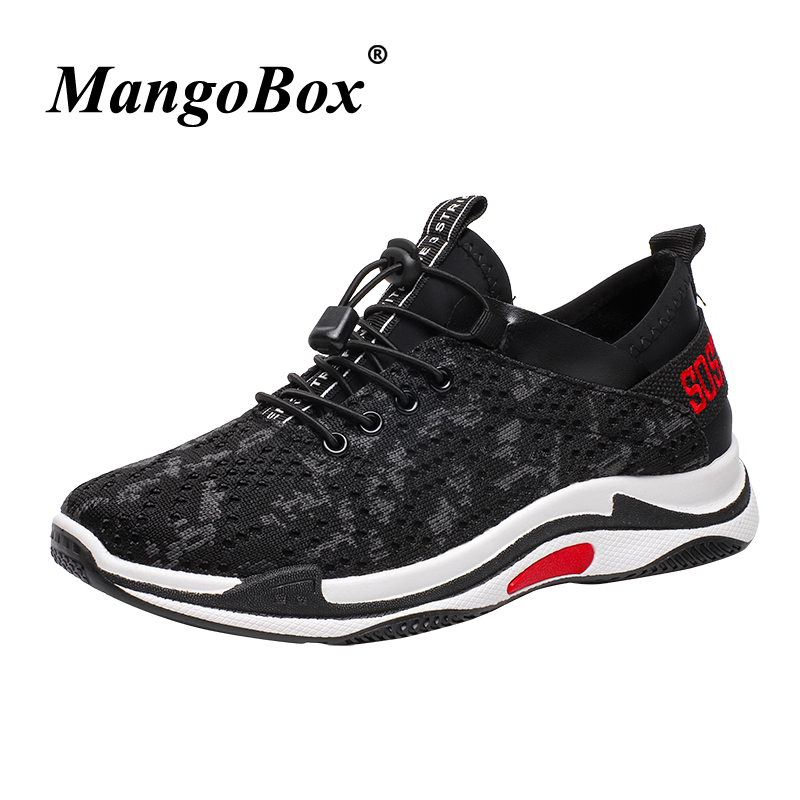 Man Sneakers for Sport Black Green Man Running Shoes Spring Summer Athletic Footwear Male Breathable Lightweight Training Shoes