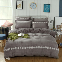 simple grey plain coloured french velvet fabrics duvet cover bed set bedding sets comforter sets bedding