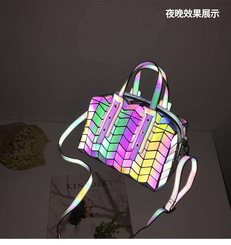 Lasen Bag Bao Bao Women Luminous sac baobao Bag Diamond Tote Geometry Quilted Shoulder Bags Saser Plain Folding bolso Handbags (19)