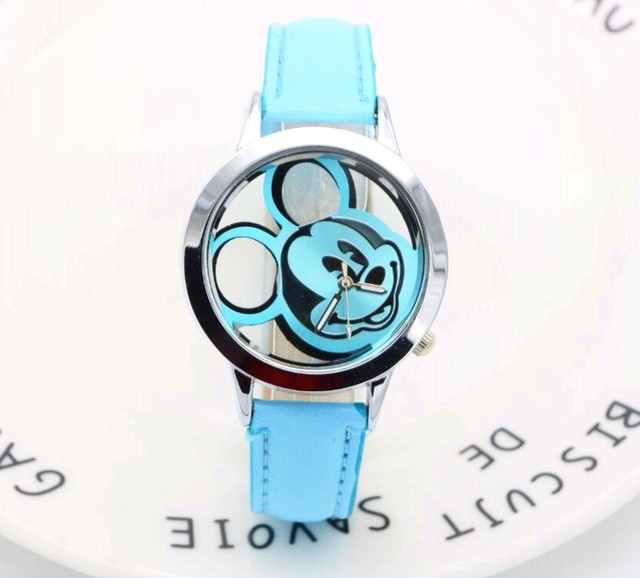 Cartoon Watch Hollow out mickey Fashion Children Kids Students Watches Analog Wr