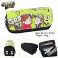 Kawaii Cartoon Gravity Falls Pencil Case Cute Pencil Bag Pouches 2 Zipper Children Student School Stationery Kids Gifts