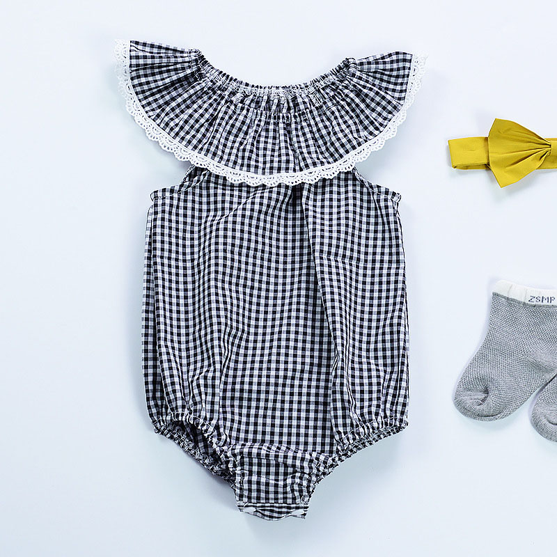 0-2 жастағы жазғы Baby қыз Bodysuits Мақта - Балаларға арналған киім - фото 5