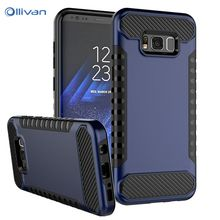 OLLIVAN Для Samsung Galaxy S8 Дело Броня Luxury 2 В 1 ТПУ + PC Задняя Крышка Для Samsung Galaxy S8 Плюс Случай Телефон Оболочки Мешок Coque