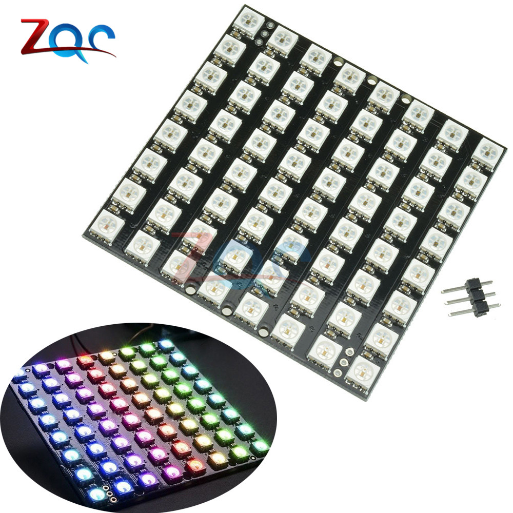 Leory 5v 64 Bit Ws2812 5050 Rgb Led Driver Development Board Circuit Consumer Electronics