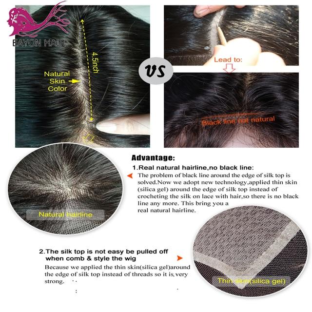 EAYON Silky prosto 5x4.5 Silk baza pełne koronkowe peruki ludzkie włosy z dzieckiem włosy Preplucked brazylijski Remy włosy 130% gęstości