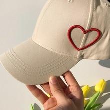 Бейсбольная теннисная Кепка в повседневном стиле с вышитым сердцем и бантом, Солнцезащитная шляпа из хлопка, головной убор, уличная спортивная одежда для влюбленных