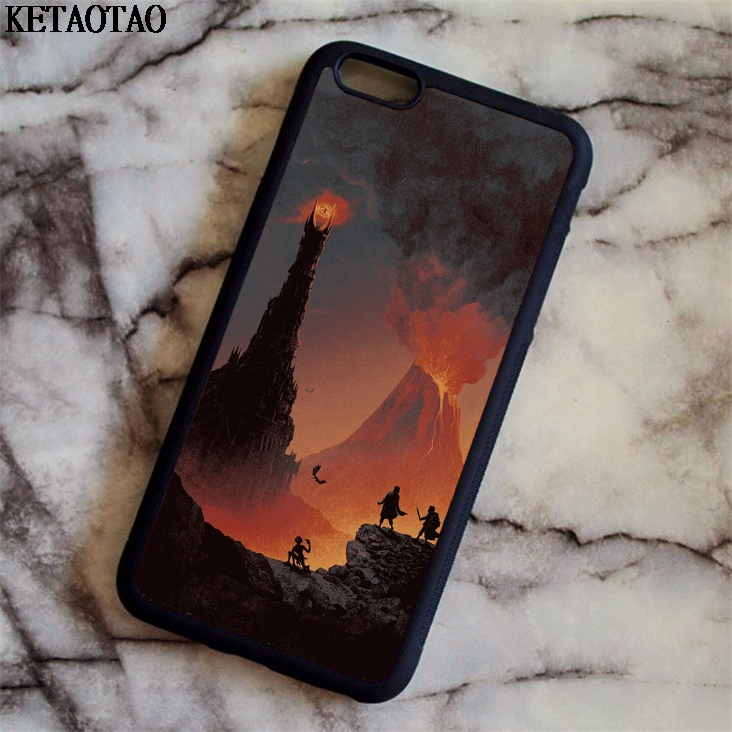 KETAOTAO Lord Of The Rings Eye Of Sauron Phone Cases for iPhone 4S 5C 5S 6S 7 8 Plus X f ...