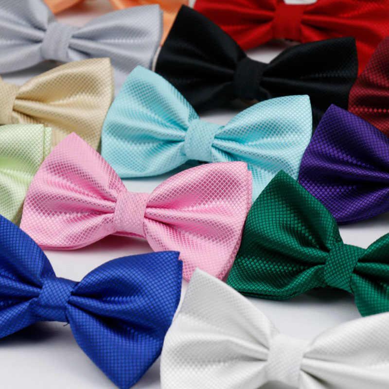 Pria Dewasa Dasi Kupu-kupu Klasik Pernikahan Pesta Formal Satin Hadiah Kotak-kotak Multicolor Menyesuaikan Leher Dasi Gravata Klip Baru- di